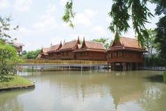 Vimanmek Mansion garden. Dusit Palace landscape in Bangkok, Thailand, Asia Royalty Free Stock Photos