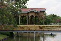 Vimanmek Mansion garden. Dusit Palace landscape in Bangkok, Thailand, Asia Royalty Free Stock Photo