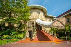 Vimanmek slott i det Dusit komplexet, Bangkok Fotografering för Bildbyråer