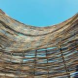 Vime feito a mão textured bambu Fotos de Stock Royalty Free