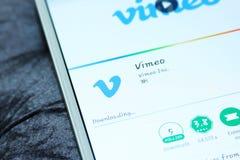 Vimeo mobiele app Royalty-vrije Stock Afbeelding