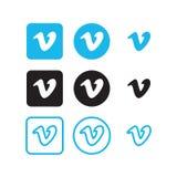 Vimeo social media icons. Collection of vimeo social media icons vector
