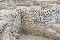 VIMINACIUM,塞尔维亚- 4月1 :Viminacium R考古学站点  免版税库存图片