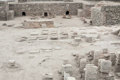 VIMINACIUM, SÉRVIA - 1º DE ABRIL: Local arqueológico de Viminacium R Imagens de Stock