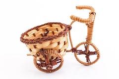 Vimine del triciclo isolato su bianco Immagini Stock Libere da Diritti