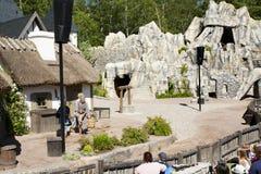 VIMMERBY, SUÈDE - 19 juin 2018 - monde du ` s d'Astrid Lindgren, Astrid Lindgrens Varld est un parc à thème Frères Lionheart Photo stock