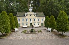 VIMMERBY SVERIGE - Juni 19, 2018 - världen för Astrid Lindgren ` s, Astrid Lindgrens Varld är ett nöjesfält arkivbilder