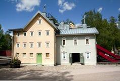 VIMMERBY SVERIGE - Juni 19, 2018 - världen för Astrid Lindgren ` s, Astrid Lindgrens Varld är ett nöjesfält Hus för Karlsson ` s arkivfoto