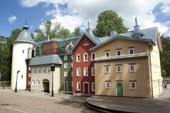 VIMMERBY SVERIGE - Juni 19, 2018 - världen för Astrid Lindgren ` s, Astrid Lindgrens Varld är ett nöjesfält Hus för Karlsson ` s arkivbilder
