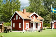 VIMMERBY, SWEDEN - June 19, 2018- Astrid Lindgren`s World, Astrid Lindgrens Varld is a theme park. Emil`s house.