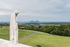VIMY-KANT, ARRAS/FRANCE - SEPTEMBER 12: Vimy Ridge National Hi Royaltyfri Bild