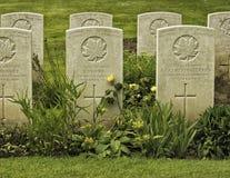 Vimy ridge grave stone Royalty Free Stock Photo