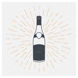 Vin, alcool, rhum, whiskey, port Concept de construction d'affiche de typographie de vecteur Photos stock