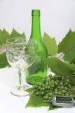 Vin avec le tire-bouchon Photo stock