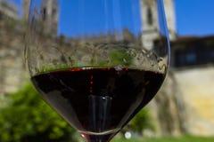 Vin avec roman Vin et château Châteaux de région de vin de la Toscane de chianti, Italie image libre de droits