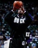 Vin Baker, Milwaukee Bucks. Milwaukee Bucks power forward Vin Baker. (Image from a color slide Royalty Free Stock Photos