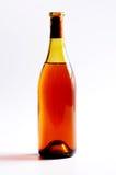 vin blanc d'isolement par bouteille Images stock
