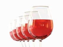 Vin blanc dans une glace Photographie stock