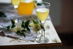 Vin blanc de fleur de sureau Vintage de style Photo stock