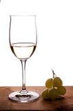 Vin blanc de Riesling dans un verre à vin Photographie stock libre de droits