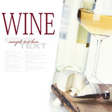 Vin blanc et fromage image libre de droits