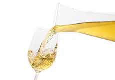 Vin blanc versant vers le bas Image stock