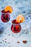Vin brulé caldo di Natale fotografie stock