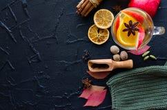 Vin chaud d'automne images stock
