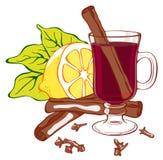 Vin chauffé illustration stock