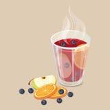 Vin chauffé chaud illustration stock