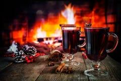Vin chauffé chaud photographie stock libre de droits