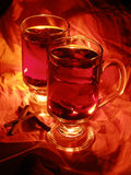 Vin chauffé par boisson de Noël Image stock