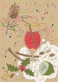 Vin chauffé par Noël illustration stock