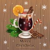 Vin chauffé par Noël illustration de vecteur