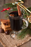 Vin chauffé par Noël Photo stock