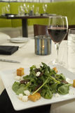 vin d'épinards de salade de lard Photos stock
