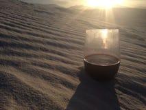 Vin dans le désert Photo libre de droits