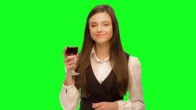 vin de boissons de femme et apprécie banque de vidéos