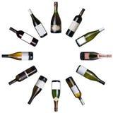 vin de bouteilles image stock