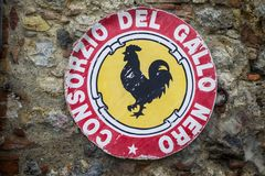 Vin de chianti, Italie images libres de droits