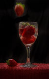 Vin de fraise Images libres de droits