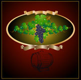 Vin de raisins de baril Image libre de droits