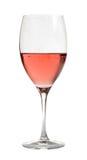 Vin de Rose en verre cristal, Photographie stock