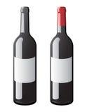 vin de vecteur de bouteille Photos libres de droits