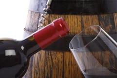 vin de verre à bouteilles Photographie stock