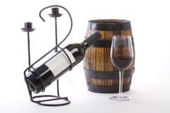 vin de verre à bouteilles Image stock