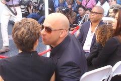 Vin Diesel and mom. Vin Diesel gets a star Stock Image