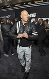 Vin Diesel. Rugged actor and action-movie hero, Vin Diesel, arrives on the red carpet for the New York City premiere of `The Fate of the Furious,` the 8th Royalty Free Stock Photo