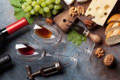Vin, druva och muttrar royaltyfri fotografi