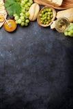 Vin, druva, ost och honung arkivfoto
